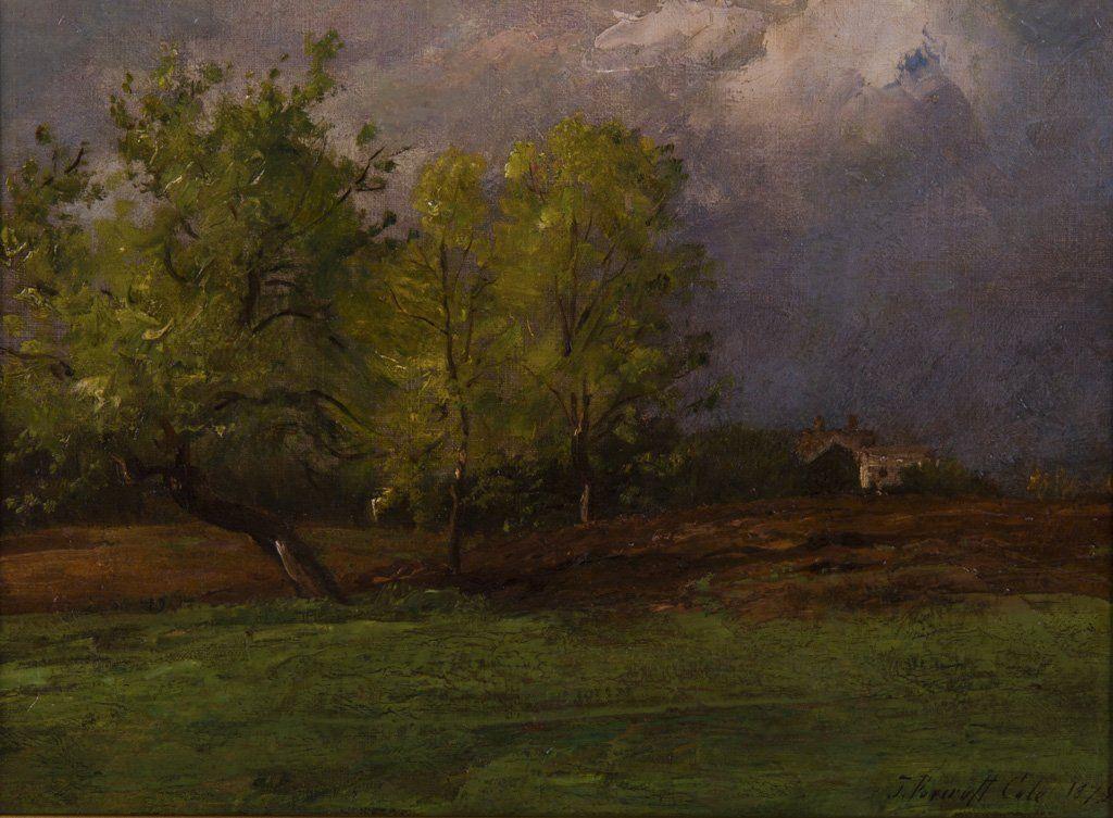 Cole, Joseph F. (American, 1837-1892) Oil Painting
