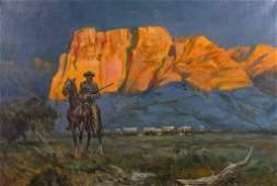 Dixon, Maynard (1875-1946) manner of Western Painting