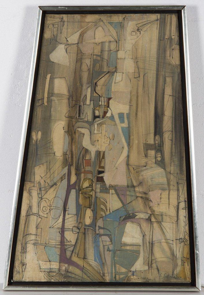Sekula, Sonia (American, 1918-1963) 1947 Oil Painting