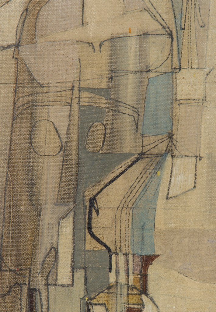 Sekula, Sonia (American, 1918-1963) 1947 Oil Painting - 4