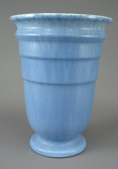 8: Roseville Art Pottery Tourmaline Blue Vase