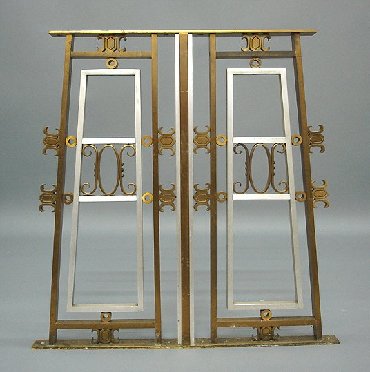 21: Art Deco 1920s Architectural Bronze & Alum Window