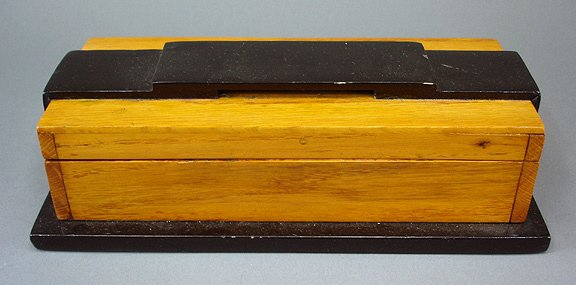 23: Art Deco 1930s Hardwood Cigarette  Box