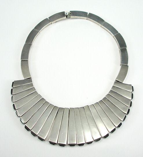 Antonio Pineda Mexican Silver Necklace & Earrings