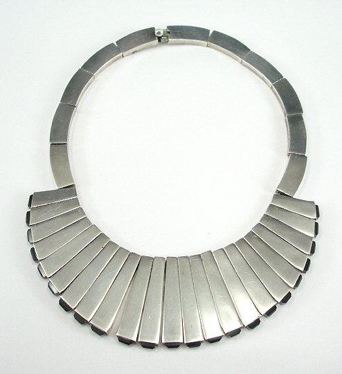 44: Antonio Pineda Mexican Silver Necklace & Earrings