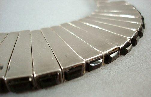 44: Antonio Pineda Mexican Silver Necklace & Earrings - 5