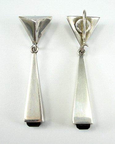 44: Antonio Pineda Mexican Silver Necklace & Earrings - 7