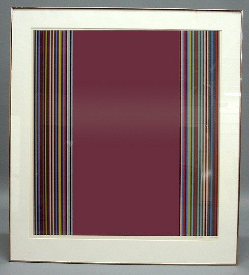 "265: Fine Artist Signed Gene Davis ""Stripes"" Print"