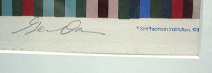 "265: Fine Artist Signed Gene Davis ""Stripes"" Print - 3"