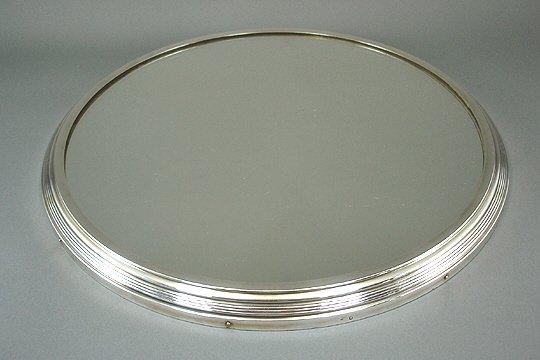 308: ArtDeco French Sterling Silver Mirror Plateau