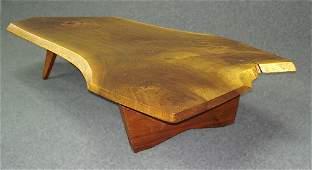325: George Nakashima Conoid Walnut Coffee Table