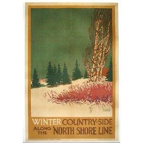 Old North Shore Railroad Original 1925 Travel Poster