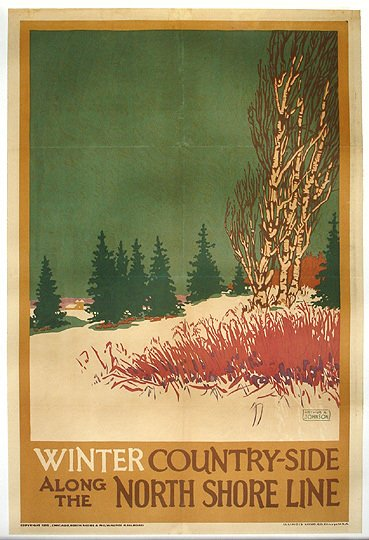 2: Old North Shore Railroad Original 1925 Travel Poster