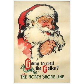 3: Old Chicago Transit Poster - North Shore Santa Claus