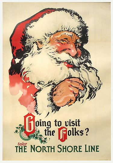 3: Old Chicago Transit Poster - North Shore Santa Claus
