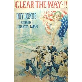 8: Original  WWI American 1918 H.C. Christy War Poster
