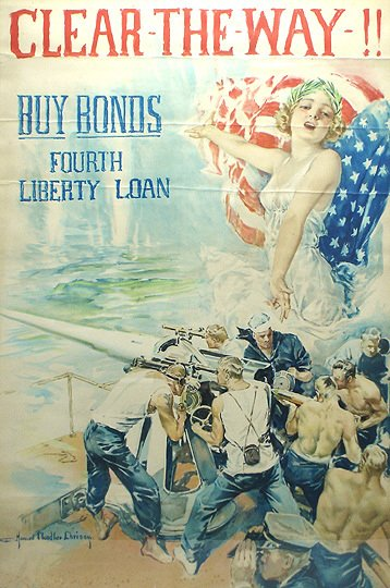 8: Original  WWI American 1918 H.C. Christy War Poster