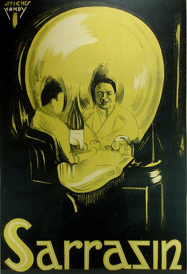 9: Sarrazin The Magician Original 1920s Magic Poster