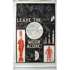 William Kent 1964 Leave The Moon Alone 57x37 Poster