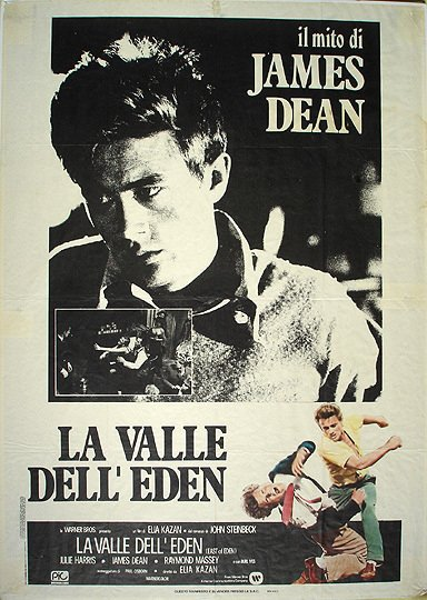 12: Original 1955 James Dean East of Eden Film Poster
