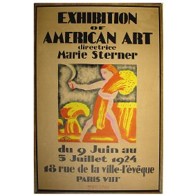 13: Rockwell Kent - 1924  French Art Exhibition Poster