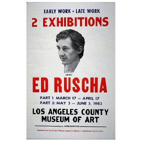 Signed ED RUSCHA 1983 LA Art Museum Poster
