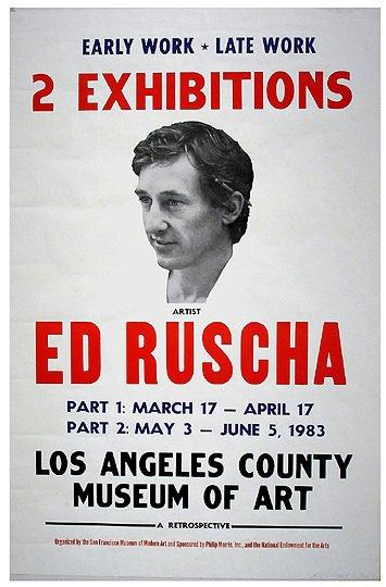 14: Signed ED RUSCHA 1983 LA Art Museum Poster
