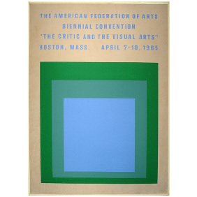 15: Vintage 1965 Josef Albers Art Museum Poster