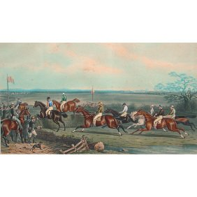 18: British 1871 AW. Neville Horse 28x40 Aquatint Print