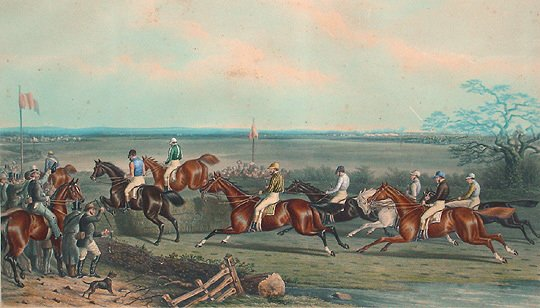 18: British 1871 AW. Neville Horse 28x40 Aquatint Print