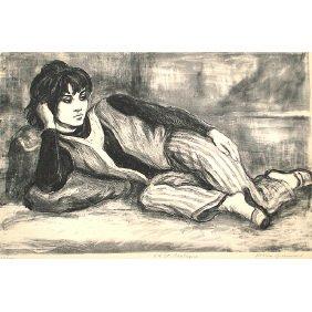 "22: Marion Greenwood ""8thStreet Odalisque"" 38/100 Print"