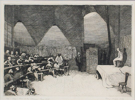 "24: Polly Knipp Hill ""Croquis Class"" 1929 Etching Print"