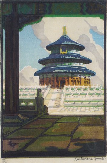 34: Fine Katherine Jowett Temple of Heaven Peking Print