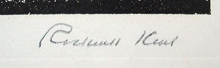 38: Original Signed Rockwell Kent Troubadour Print - 4