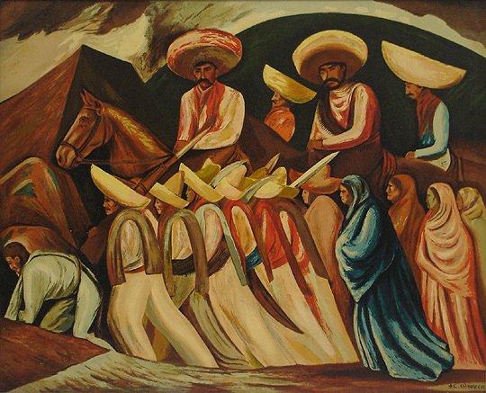"46: Jose Clemente Orozco ""Zapatistas"" Pyroxylin Print"