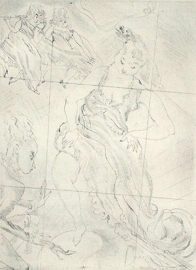 "47: Jules Pascin Original ""Cinderella"" Etching Print"