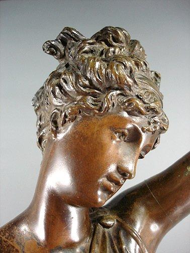 "58: Carrier Belleuse ""La Verite""  Bronze 35"" Sculpture - 4"