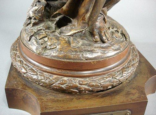 "58: Carrier Belleuse ""La Verite""  Bronze 35"" Sculpture - 6"