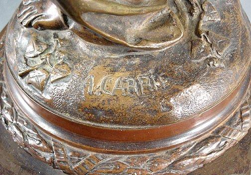 "58: Carrier Belleuse ""La Verite""  Bronze 35"" Sculpture - 7"
