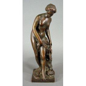 Falconet (after) La Baigneus 19th C. Nude Bronze