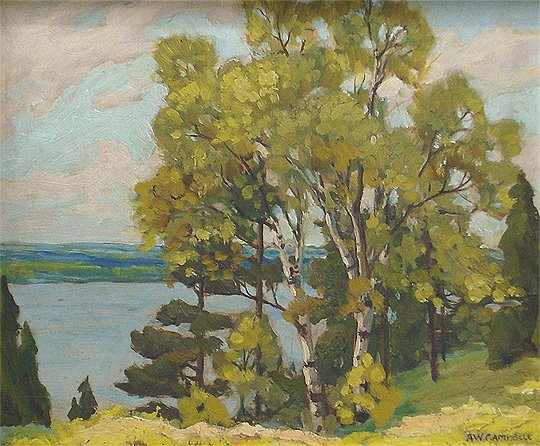 79: A.W. Campbell - Canadian Lake Simcoe 1923 Painting