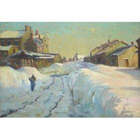 Ernest W. Christmas, Australian Winter Oil Painting