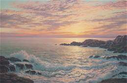 160 Josef M Arentz Kennebunk Rocks Sunrise Painting