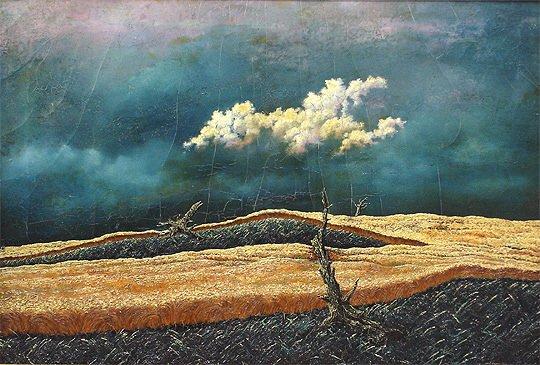 197: John R. Cox  (1915-1990) Storm Surrealist Painting