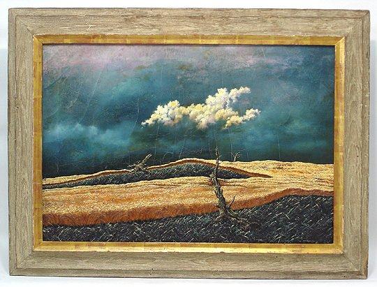 197: John R. Cox  (1915-1990) Storm Surrealist Painting - 2