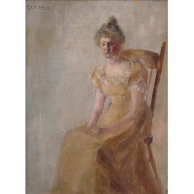 207: Thomas Cowperthwaite Eakins Young Woman Painting