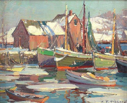 221: A. T. Hibbard Harbor Rockport Motif #1 Painting