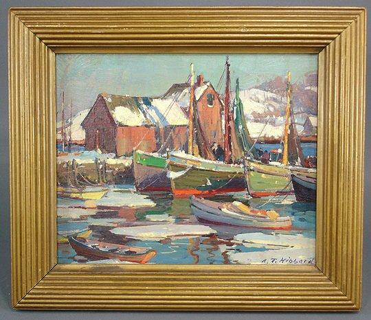 221: A. T. Hibbard Harbor Rockport Motif #1 Painting - 2