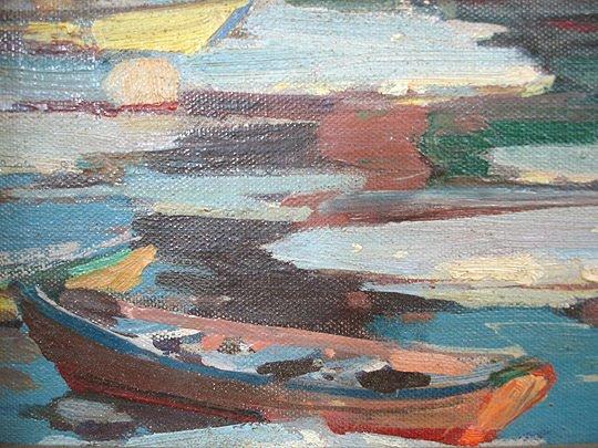 221: A. T. Hibbard Harbor Rockport Motif #1 Painting - 4