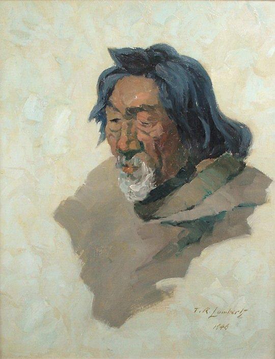 234: Theodore Roosevelt Lambert The Old Eskimo Painting